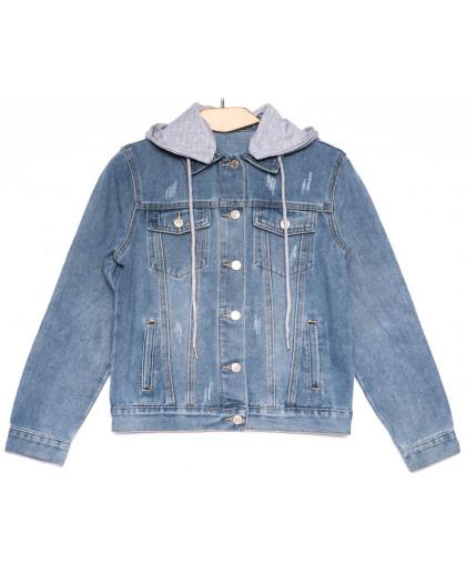 0811 New jeans куртка джинсовая женская синяя весенняя коттоновая (ХS-XXL, 6 ед.) New Jeans