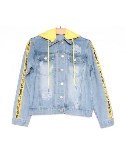 0813 New jeans куртка джинсовая женская синяя весенняя коттоновая (ХS-XXL, 6 ед.) New Jeans