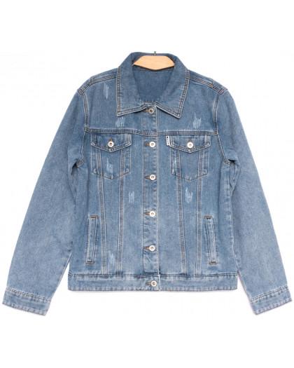 0809 New jeans куртка джинсовая женская синяя весенняя коттоновая (S-XXL, 6 ед.) New Jeans