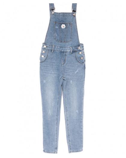 3651 New jeans комбинезон с царапками синий весенний коттоновый (25-30, 6 ед.) New Jeans