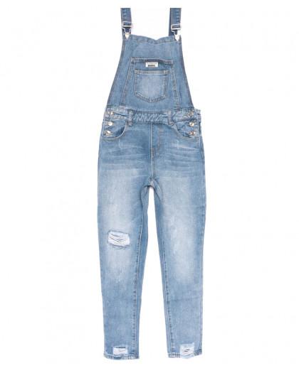 3635 New jeans комбинезон с царапками синий весенний коттоновый (25-30, 6 ед.) New Jeans