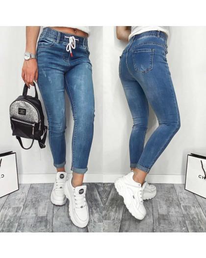 3663 New jeans джинсы женские с царапками синие весенние стрейчевые (25-30, 6 ед.) New Jeans