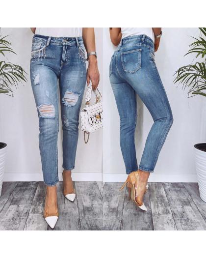 3618 New jeans мом с рванкой стильный весенний коттоновый (25-30, 6 ед.) New Jeans