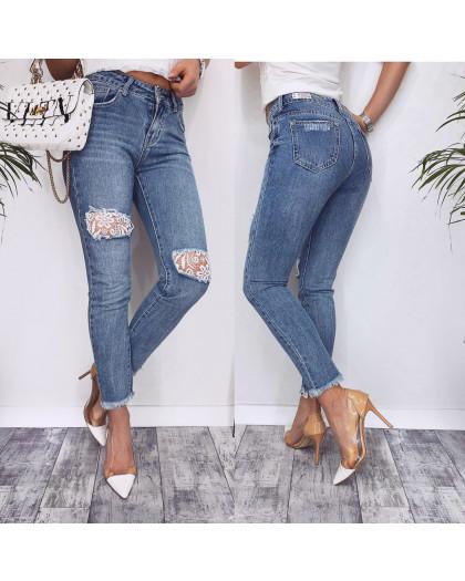 3634 New jeans мом стильный синий весенний коттоновый (25-30, 6 ед.) New Jeans