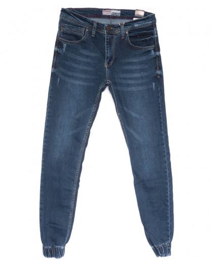 6213 Corcix джинсы мужские молодежные на резинке синие весенние стрейчевые (29-36, 8 ед.) Corcix