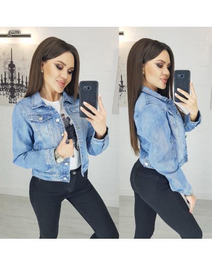 0804 New jeans куртка джинсовая женская синяя весенняя коттоновая (XS-XXL, 6 ед.) New Jeans