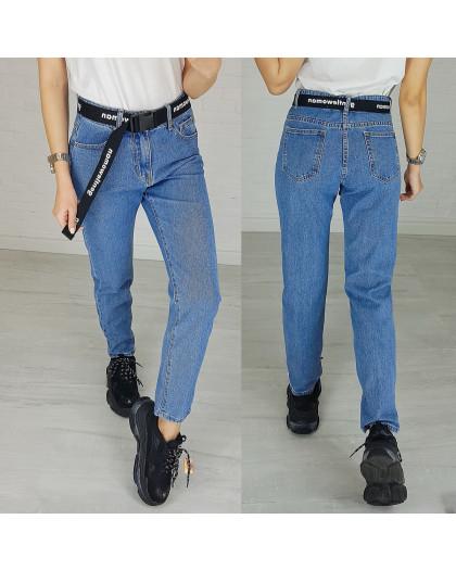 3596 New jeans мом синий весенний коттоновый (25-30, 6 ед.) New Jeans
