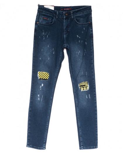 0570 Redmoon джинсы мужские с царапкой синие весенние стрейчевые (29-36, 7 ед.) Red Moon