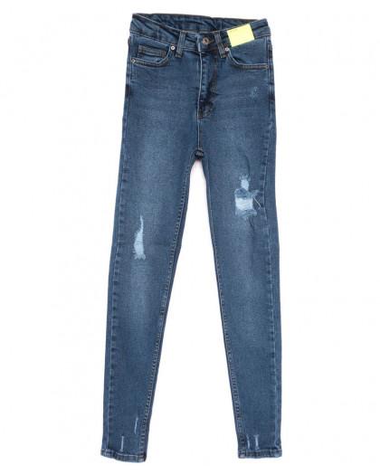 2088 X джинсы женские зауженные синие весенние стрейчевые (34-42,евро, 8 ед.) X