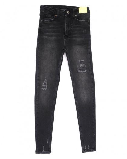 2347 X джинсы женские зауженные черные весенние стрейчевые (34-42,евро, 8 ед.) X