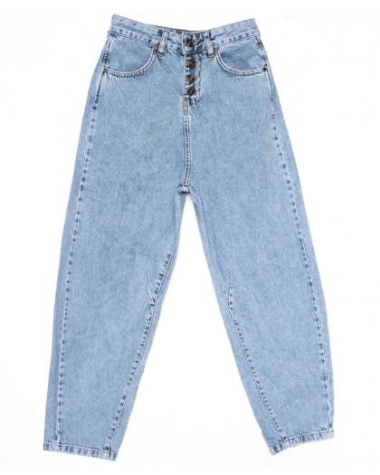 9748 Poshum джинсы-баллон синие весенние коттоновые (25-30, 6 ед.) Poshum