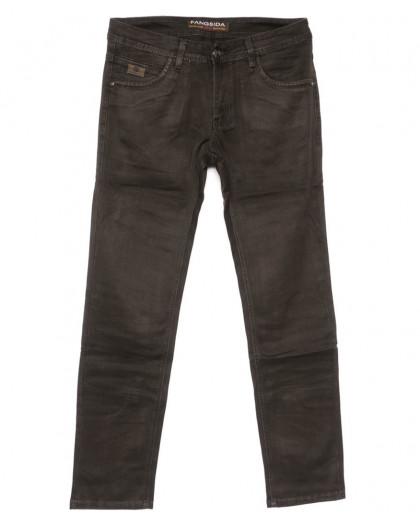 4056 Fangsida джинсы мужские коричневые весенние стрейчевые (30-38, 8 ед.) Fangsida