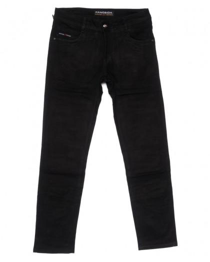 4039 Fangsida джинсы мужские полубатальные черные весенние стрейчевые (32-38, 8 ед.) Fangsida