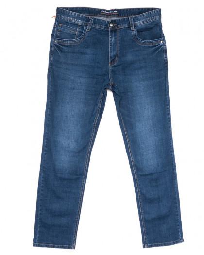 3040 Fangsida джинсы мужские полубатальные синие весенние стрейчевые (32-42, 8 ед.) Fangsida