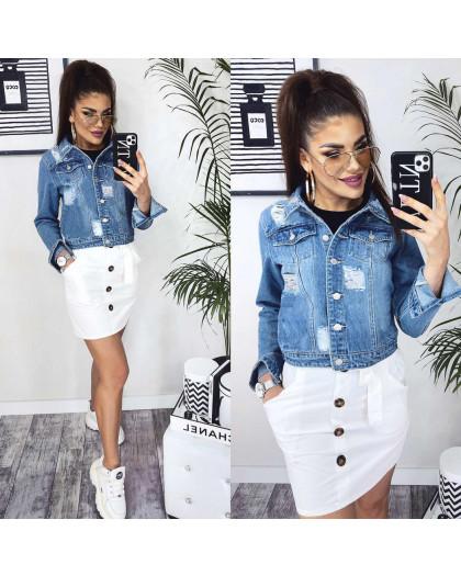 0801 New jeans куртка джинсовая женская синяя весенняя коттоновая (XS-XXL, 6 ед.) New Jeans