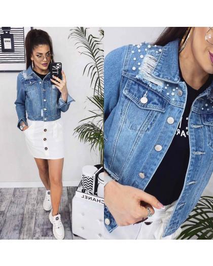 0803 New jeans куртка джинсовая женская синяя весенняя коттоновая (XS-XXL, 6 ед.) New Jeans
