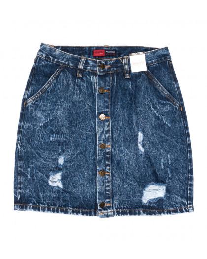 9906-5 V Relucky юбка джинсовая синяя весенняя коттоновая (25-30, 6 ед.)  Relucky