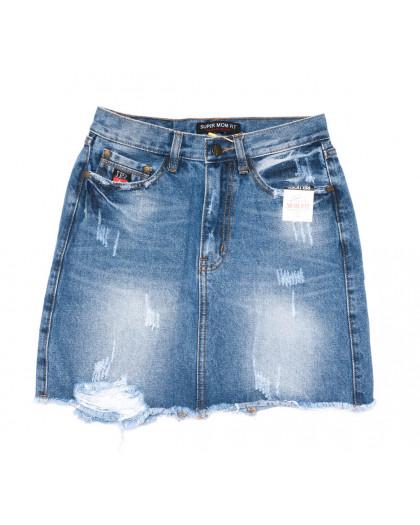 9933-2 V Relucky юбка джинсовая синяя весенняя коттоновая (25-30, 6 ед.)  Relucky