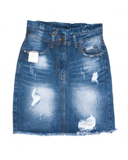 9908-5 V Relucky юбка джинсовая синяя весенняя коттоновая (25-30, 6 ед.)  Relucky