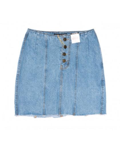 9940-2 V Relucky юбка джинсовая синяя весенняя коттоновая (25-30, 6 ед.)  Relucky