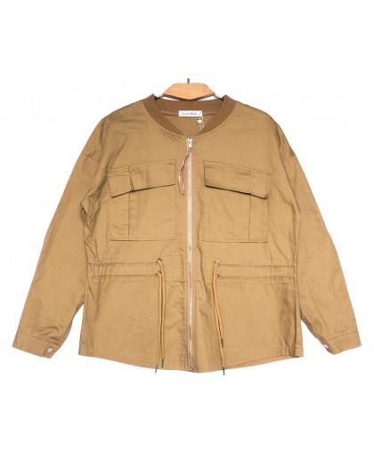 19199 Saint Wish куртка джинсовая женская коричневая весенняя коттоновая (S-2XL, 5 ед.) Saint Wish