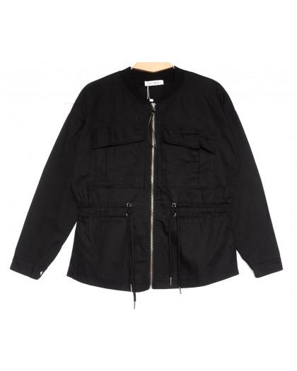 19199 Saint Wish куртка джинсовая женская черная весенняя коттоновая (S-2XL, 5 ед.) Saint Wish