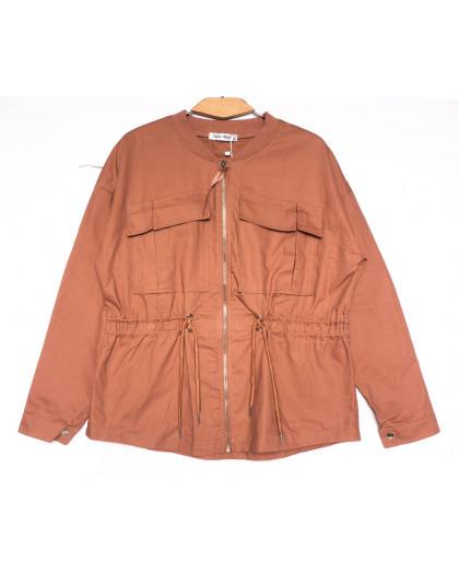 19199 Saint Wish куртка джинсовая женская коралловая весенняя коттоновая (S-2XL, 5 ед.) Saint Wish