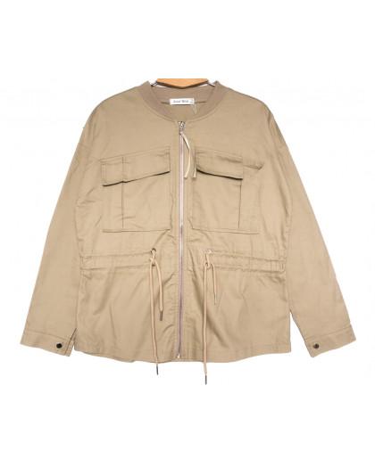 19199 Saint Wish куртка джинсовая женская бежевая весенняя коттоновая (S-2XL, 5 ед.) Saint Wish