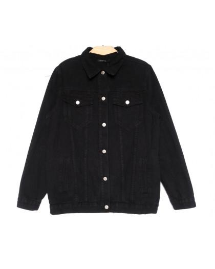 2028 Saint Wish куртка джинсовая женская черная весенняя коттоновая (S-XL, 4 ед.) Saint Wish
