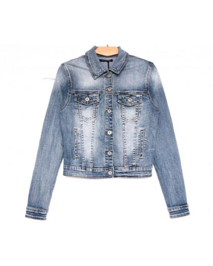 9053 Saint Wish куртка джинсовая женская синяя весенняя стрейчевая (ХS-XL, 5 ед.) Saint Wish