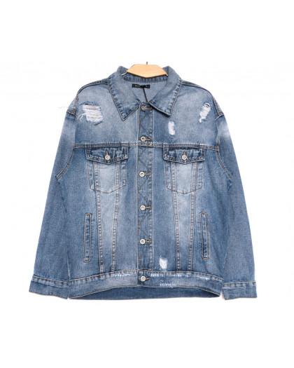 9010 Saint Wish куртка джинсовая женская синяя весенняя коттоновая (ХS-XL, 5 ед.) Saint Wish