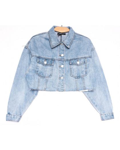 9106 Saint Wish куртка короткая джинсовая женская синяя весенняя коттоновая (ХS-XL, 5 ед.) Saint Wish