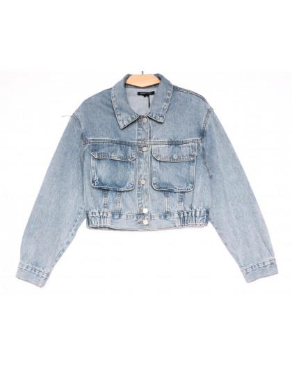 9012 Saint Wish куртка джинсовая женская синяя весенняя коттоновая (ХS-XL, 5 ед.) Saint Wish