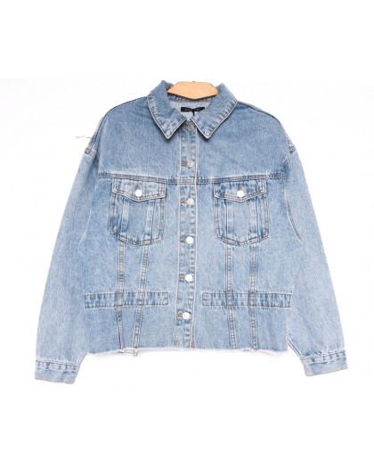 9096 Saint Wish куртка джинсовая женская синяя весенняя коттоновая (ХS-XL, 5 ед.) Saint Wish