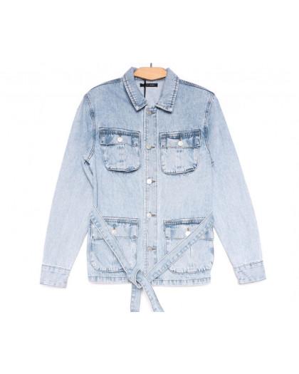 9066 Saint Wish куртка джинсовая женская синяя весенняя коттоновая (ХS-XL, 5 ед.) Saint Wish