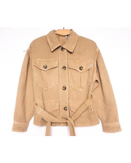 9067-7 Saint Wish куртка джинсовая женская коричневая весенняя коттоновая (ХS-XL, 5 ед.) Saint Wish