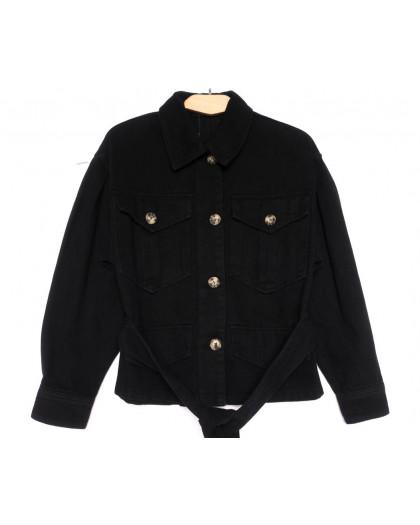 9067-1 Saint Wish куртка джинсовая женская черная весенняя коттоновая (ХS-XL, 5 ед.) Saint Wish