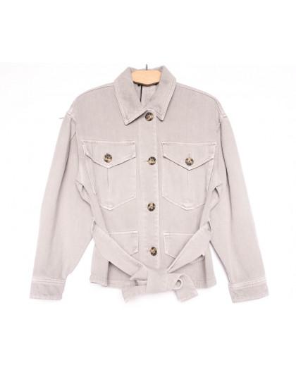 9067-8 Saint Wish куртка джинсовая женская серая весенняя коттоновая (ХS-XL, 5 ед.) Saint Wish