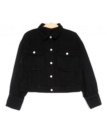 9104-1 Saint Wish куртка джинсовая черная весенняя коттоновая (ХS-XL, 5 ед.) Saint Wish