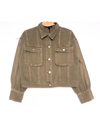 9104-11 Saint Wish куртка джинсовая женская хаки весенняя коттоновая (ХS-XL, 5 ед.) Saint Wish