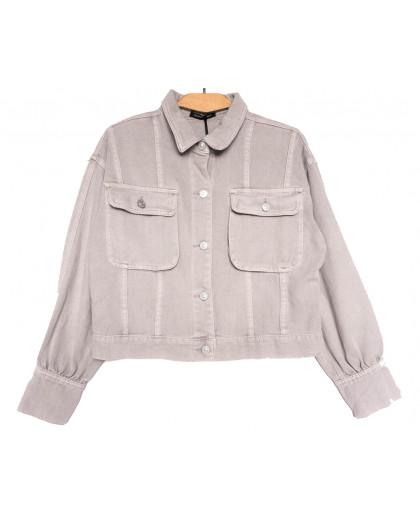 9104-8 Saint Wish куртка джинсовая женская серая весенняя коттоновая (ХS-XL, 5 ед.) Saint Wish