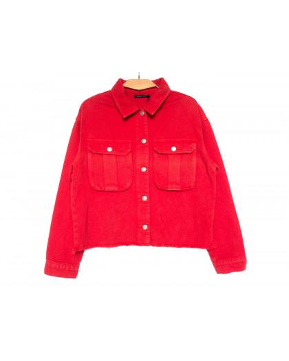 9020-4 Saint Wish куртка джинсовая женская красная весенняя коттоновая (ХS-XL, 5 ед.) Saint Wish