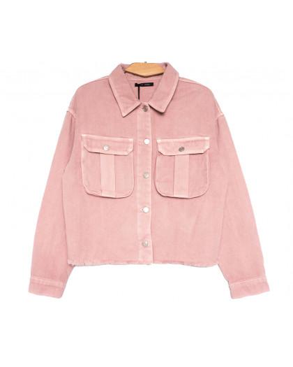 9020-2 Saint Wish куртка джинсовая женская розовая весенняя коттоновая (ХS-XL, 5 ед.) Saint Wish