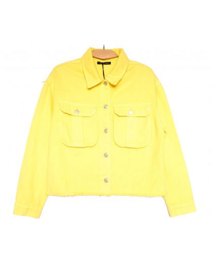 9020-5 Saint Wish куртка джинсовая женская желтая весенняя коттоновая (ХS-XL, 5 ед.) Saint Wish