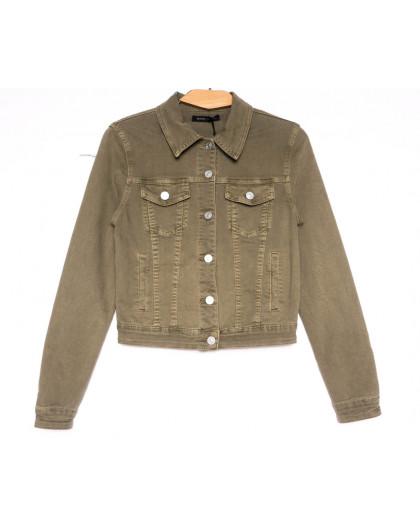 9035-11 Saint Wish куртка джинсовая женская хаки весенняя стрейчевая (ХS-XL, 5 ед.) Saint Wish