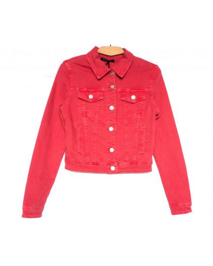9035-9 Saint Wish куртка джинсовая женская красная весенняя стрейчевая (ХS-XL, 5 ед.) Saint Wish