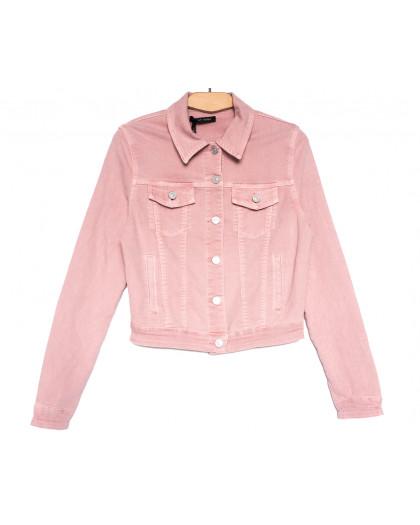 9035-3 Saint Wish куртка джинсовая женская розовая весенняя стрейчевая (ХS-XL, 5 ед.) Saint Wish