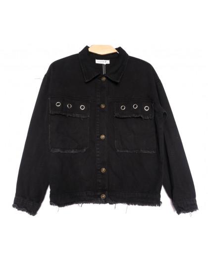 6165 Saint Wish куртка джинсовая женская черная весенняя коттоновая (ХS-XL, 4 ед.) Saint Wish