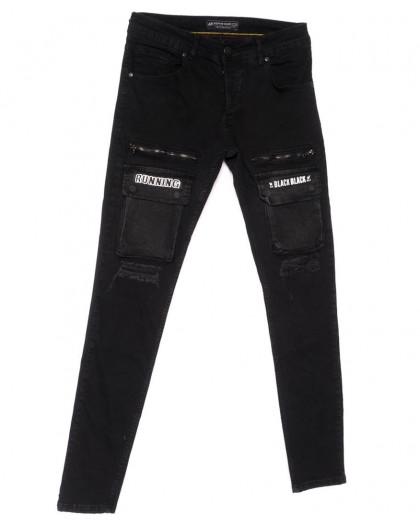 5740 Siyah Redman джинсы мужские стильные черные весенние стрейчевые (29-34, 8 ед.) REDMAN