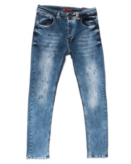5602 Redcode джинсы мужские с царапкой синие весенние стрейчевые (29-36, 8 ед.) Redcode